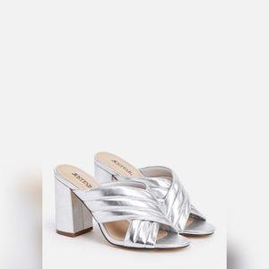 Silver High Sandal